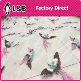 tessuto del merletto degli uccelli ricamato 130cm