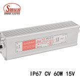 60W 15V 4A Alimentation de commutation à LED étanche avec IP67
