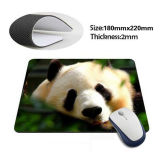 Cool New Design Rubber Mouse Pad com Soft Cloth Top