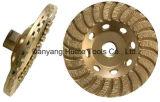 Pulido de granito de diamantes de alta calidad de la rueda de la Copa de corte