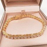 14K Gold Crystal Chain Bracelet joyas para mujer