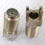 Conector femenino de la soldadura de F para el adaptador coaxial del RF del montaje del PWB