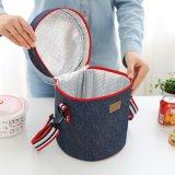 Zylinder-Kühlvorrichtung-Beutel-thermische Isolierungs-Beutel-Handtaschen für Picknick-Mittagessen 10101