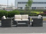 Алюминиевая рама PE плетеной диван в таблице установите Садовая мебель