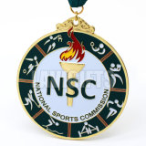 Médaille époxy faite sur commande de Suvenir de compétition sportive pour la natation