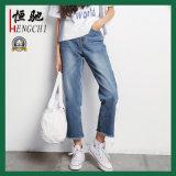 Fabrikmäßig hergestellte Form-Ausdehnungs-dünne Frauen-Denim-Jeans