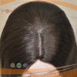 Peluca del color del negro del pelo de la Virgen del pelo humano (PPG-l-01536)