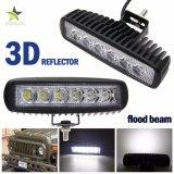 自動車極度の明るいLED作業ライト、3D携帯用12V極度の明るい防水18W LED作業ライトバー