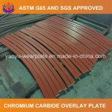 Placa resistente abrasiva revestida do carboneto do cromo