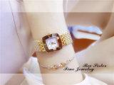 Dama vestido de piedra de diamante de la banda de acero inoxidable Reloj Pulsera Reloj de pulsera
