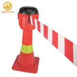 cône escamotable Topper de circulation de corde en plastique de la barrière 9meter ou 3meter
