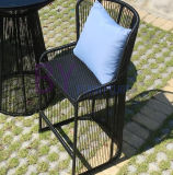 Moderne schwarze im Freienbalkon-Garten-Tee-System-Hotel-Stab-Freizeit-einfacher Speisetisch und Stuhl