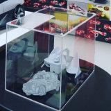 hecho personalizado pantalla figurita de cajas de acrílico transparente vitrina
