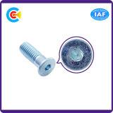 DIN/ANSI/BS/JIS Stainless-Steel Carbon-Steel/Vis à tête hexagonale de boucle torsadée cône Half-Tooth vis à tête hexagonale à tête plate