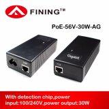 Gigabit56v poe-Einspritzdüse für IP ruft Cameras-30W IEEE 802.3at an