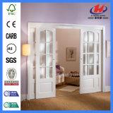 Prix européen des portes en verre de l'intérieur de porte coulissante en bois
