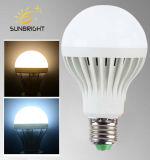 18w 7000K lampe à LED en plastique de matières premières de l'ampoule E27