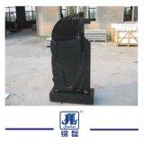 Monumento di marmo nero personalizzato europeo della pietra del granito, pietra tombale del granito/Headstone trasversali gravi per il cimitero