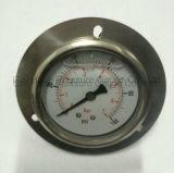 フランジとの63mmすべてのステンレス鋼の圧力計