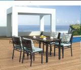 /Rattan ao ar livre/cadeira & tabela da mobília de Polywood mobília do jardim/pátio/hotel ajustadas (HS 3001AC & HS 7115DT)