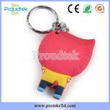 Muñeca de RFID personalizados Llavero PVC EL PVC blando etiqueta clave