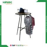 La vente au détail de vêtements renouvelable Portable en métal Hanger Rack sécheur d'acier ronde d'affichage la rotation des vêtements pour la vente de rack