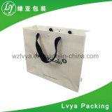 Оптовая торговля Custom роскошь белой бумаги торгового подарочный пакет с логотипом печать