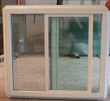 Guichet de glissement en aluminium de longeron triple de double vitrage avec l'écran de mouche