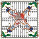 Helles Quadrat gedruckter Dame-Silk Stutzen-Schal