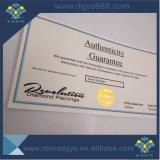 Het Certificaat van de anti-Vervalsing van het Document van de veiligheid met de Druk van het Document van het Watermerk