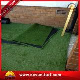 Ajardinando el césped 25m m de la hierba del jardín hierba artificial del césped de cuatro colores