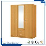 Chambre à coucher en bois de dessins et modèles Almirah Cheap moderne en PVC/armoire penderie mélamine/MDF