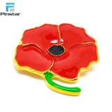 世界大戦の記念品の顧客用赤いケシのコレクションのエナメルPin