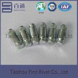 8X20.6mm亜鉛カラー固体鋼鉄停止Pinのリベット