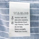 Contrassegno della modifica della lavanderia della tessile del costume per il tovagliolo