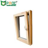 Couleur du bois et tourner l'inclinaison en aluminium avec ce standard de fenêtre en verre