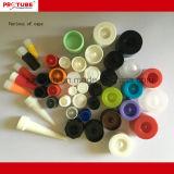 Apertar os tubos de embalagens de alumínio para cremes cosméticos