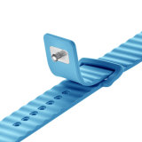 Faixa de relógio macia elástica em linha nova da borracha de silicone para a faixa de relógio de Apple