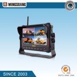 Sistema inalámbrico de cámara de 7 pulgadas Quad coche de la grabación de un monitor con IP69k de la cámara de visión trasera