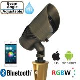 조경 점화 Bluetooth RGBW ETL IP65를 가진 금관 악기 정원 빛