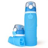 Flessen 750ml van het Water van het Silicone van de Sport van de douane de Niet-toxische Flexibele Vouwende