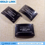 Distintivo su ordinazione di marchio della valigia dei vestiti della targhetta del segno di marca del metallo