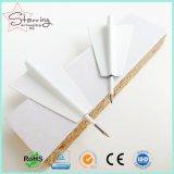 Livraison gratuite Carte de couleurs blanc avion en papier de pousser la broche