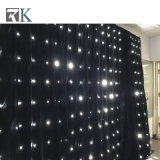 LEDの星のカーテンはイベントの結婚式のためのファブリックカーテンキットをつける