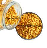 Uso amarillo de Masterbatch con el material plástico del Po del PE