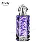 Стеклянный дух женщин бутылки дух с кристаллический украшением