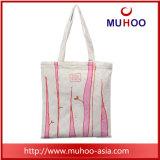 プリントが付いている方法キャンバスのハンドバッグの女性戦闘状況表示板浜の綿袋