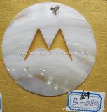 Bricolaje moda accesorios de joyería Colgante Collar Botón Blanco intérprete