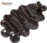 Extensões indianas do cabelo humano do Virgin da onda do corpo