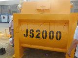 Js2000 (120m3/h) misturador concreto do eixo gêmeo para a venda
